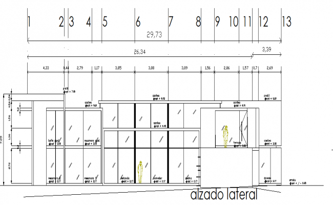 Elevation design of a building
