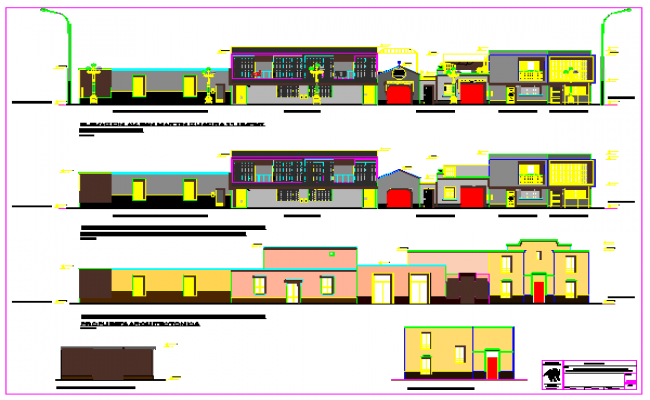 Elevation design of residential building design drawing