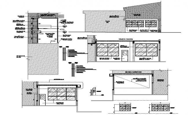 Elevation design single floor building CAD file