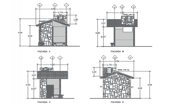 House Elevation AutoCAD File
