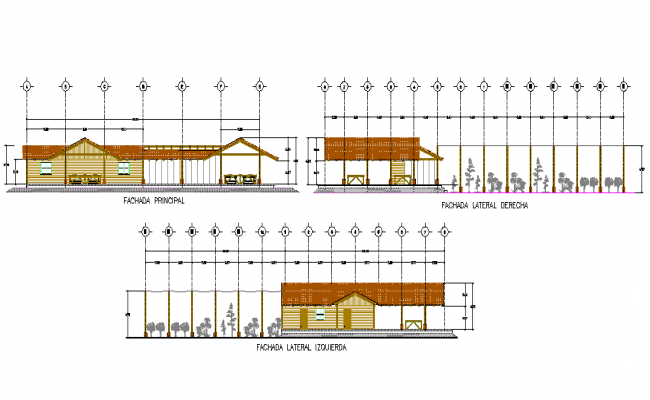 house Elevation Design AutoCADFile