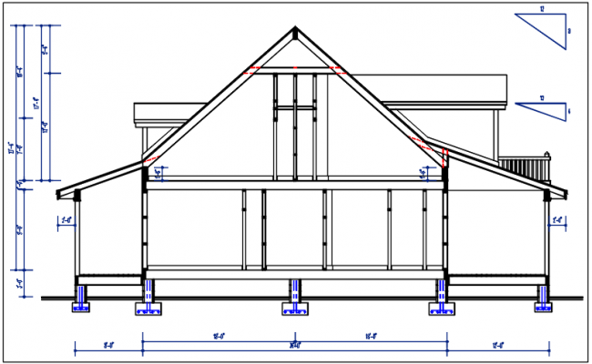Elevation details with dimension details dwg files
