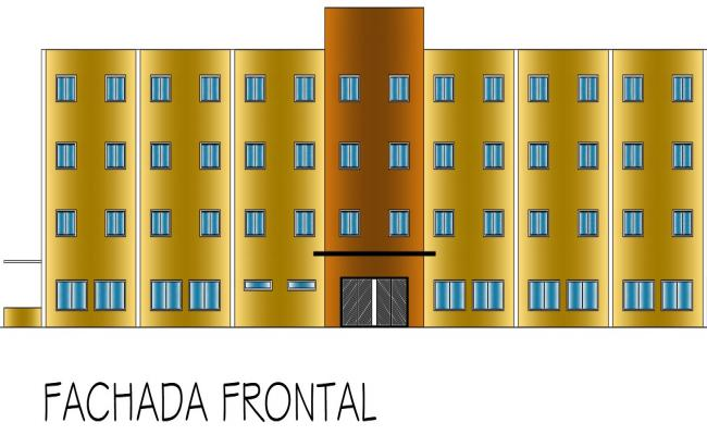 hotel elevation designs in dwg file