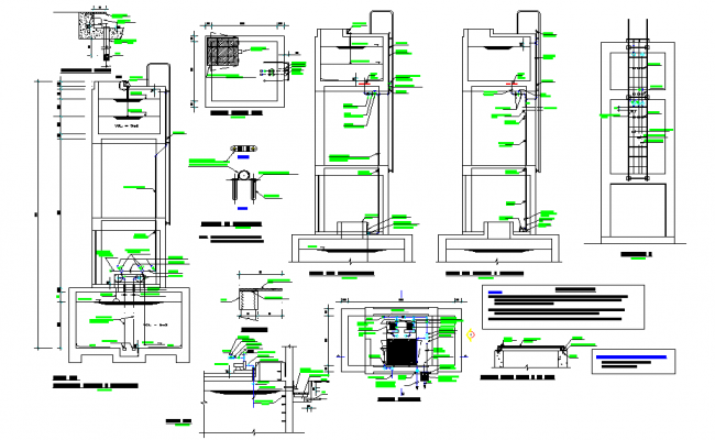 Elevation elevated tank layout file