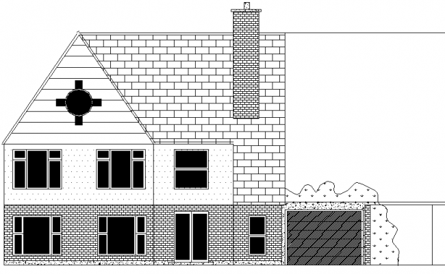 Elevation house autocad file