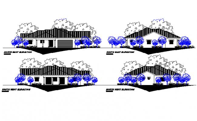 Elevation house detail autocad file