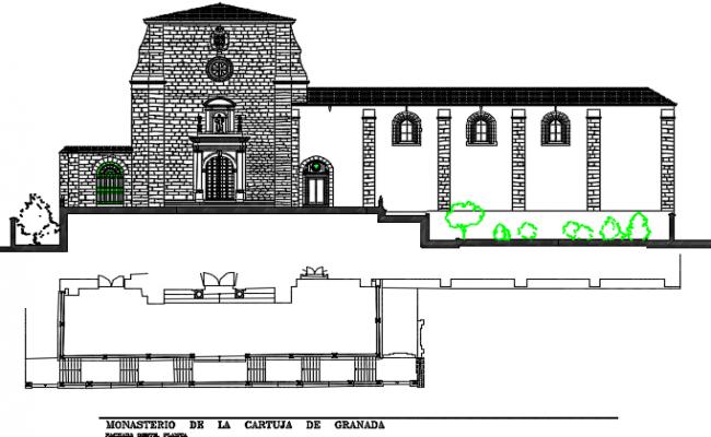 Elevation house detail dwg file