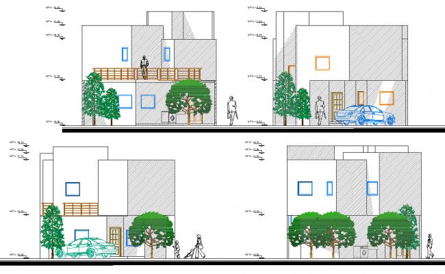 Elevation housing plan layout file