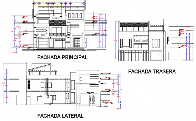 Elevation living place plan detail dwg file
