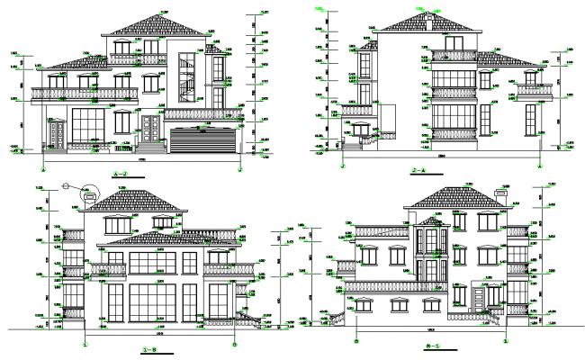 Elevation multi family housing layout file