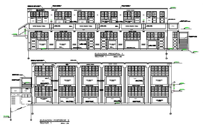 Elevation of a building design