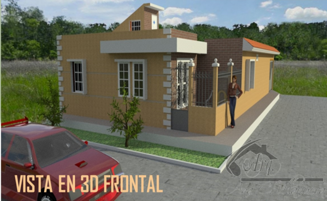Elevation of a bungalow dwg file
