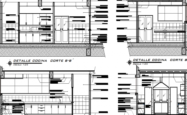 Elevation Of A Kitchen Dwg File