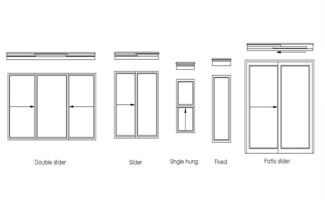 Elevation of a window dwg file