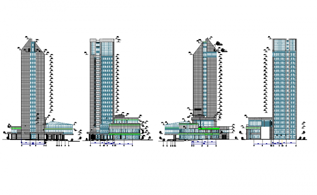 Elevation of luxurious hotel