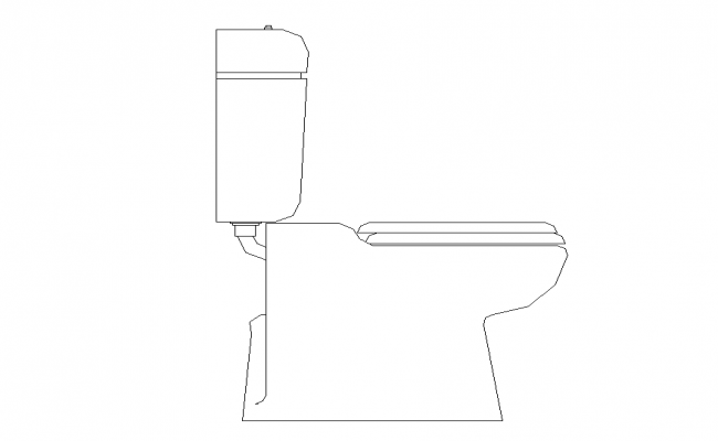 Elevation Of Sanitary Toilet Detail Cad Block 2d View