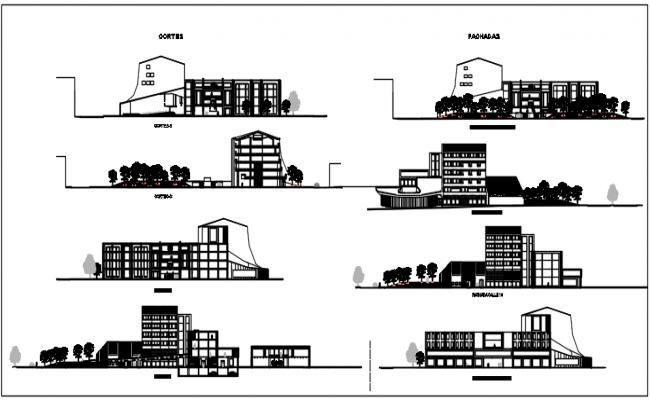"Elevation plan detail in center line plan, level plan 0'00"" level in 10'00"" in building plan detail dwg file"