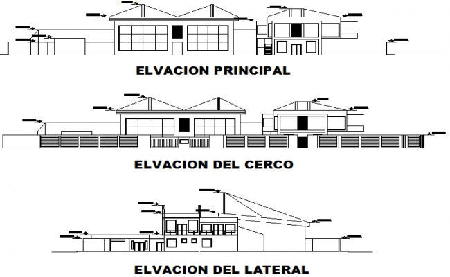 Elevation printing plan detail dwg file