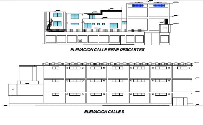 Elevation textile factory plan detail dwg file