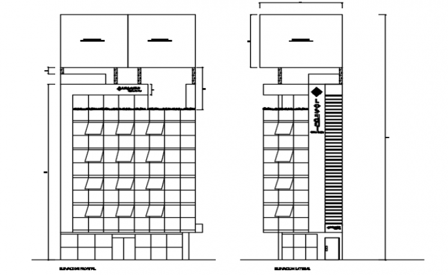 Elevation window plan detail dwg file