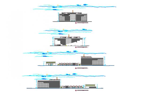 Elevation working detail dwg file