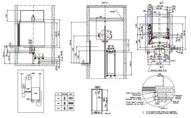 Elevator Installation Plan DWG File