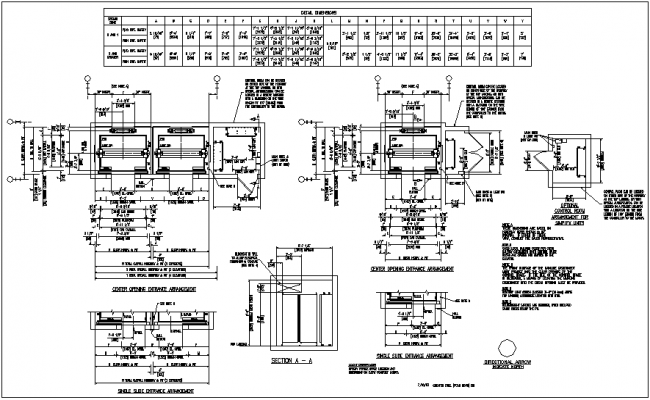 Elevator design view with detail dwg file