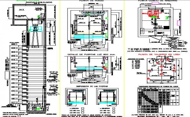 Elevator installation details of hospital dwg file for Elevator plan drawing