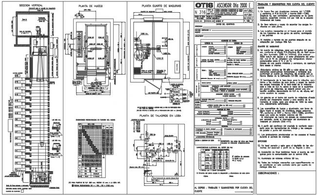 Elevator layout plan dwg file