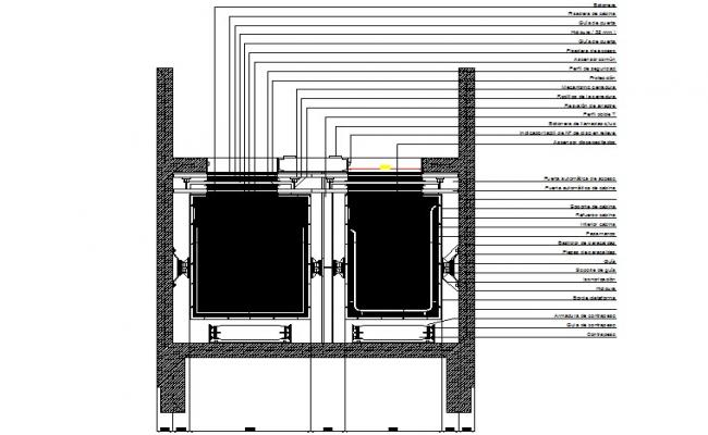 Elevator section detail dwg file