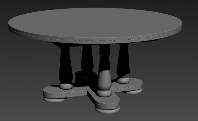 Ellipse Shape Wooden Table Max File
