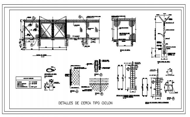 Enclosure ciclon type