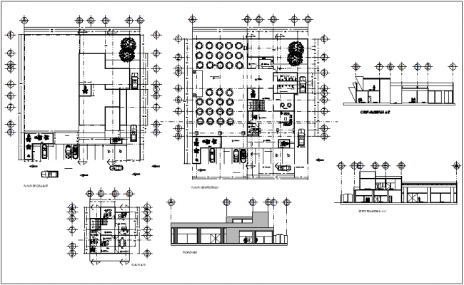 Engineering Collage Plan And Section View Dwg File