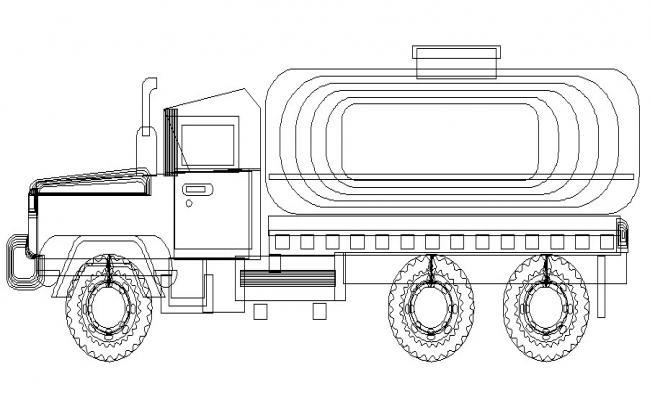 Engineering truck vehicle block cad drawing details dwg file
