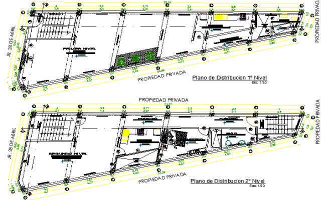 Entire House Project Design and Structure Details dwg file