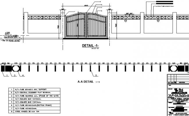 Entrance detailing elevation design of a door