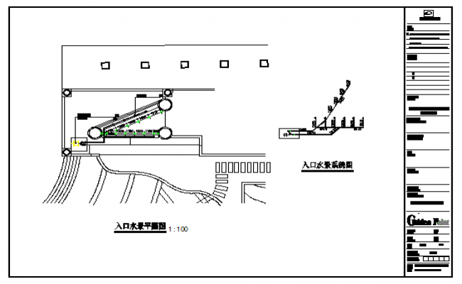 Entrance water features water system diagram design drawing