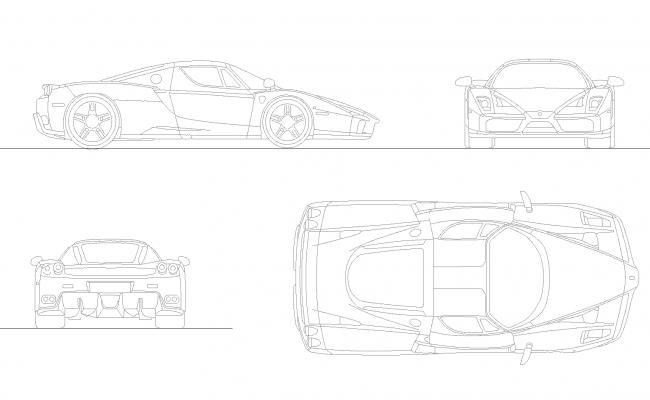 Enzo Ferrari plan detail dwg.