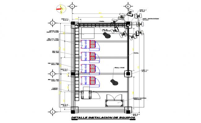 Equipment installation detail autocad file