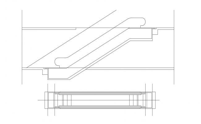 Escalator CAD Block