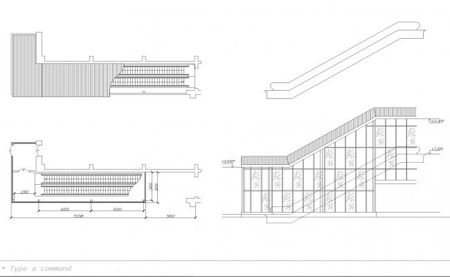 Escalator plan detail dwg file ccuart Choice Image