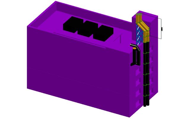 Espae tubes extend 3 D plan autocad file