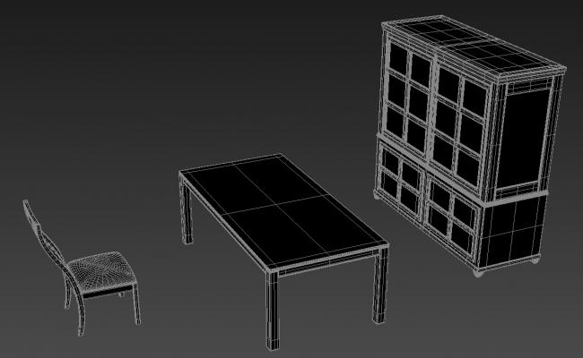 Ethnic Style Of Furniture 3D MAX File