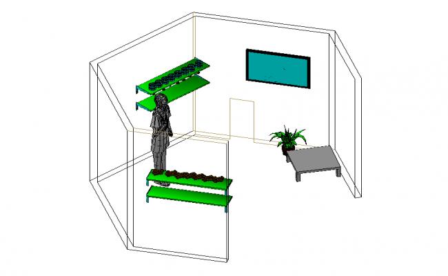 3d Interior Room Design In DWG File