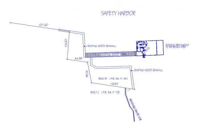 Existing safety harbor site plan cad drawing details dwg file