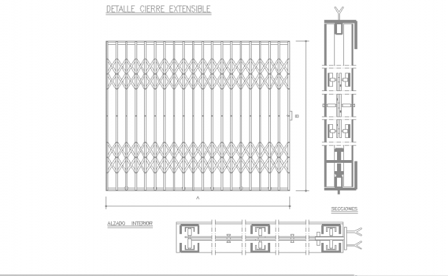 Extensible closure details cad files