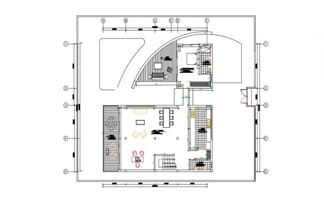 Exterior House Design In AutoCAD File
