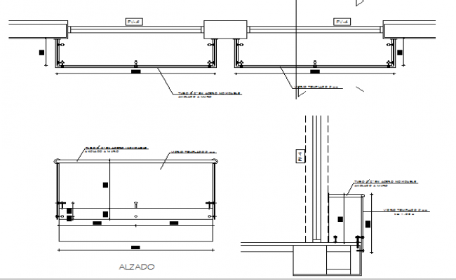 Exterior Railing Construction Details Dwg File