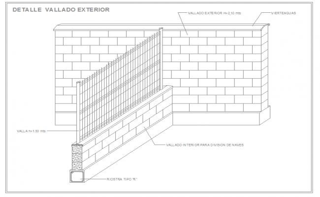 Exterior wall fence design
