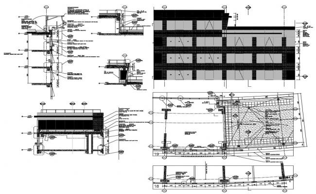External Wall Section,Plan,Elevation AutoCAD File